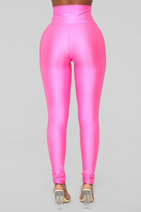 Brianne High Rise Leggings - Neon pink
