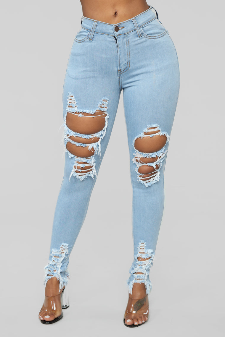 Tell Your Boy Bye Jeans - Light Blue Wash
