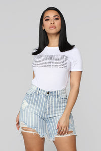 Send Nudes Top - White