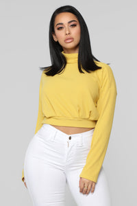 Find My Love Top - Mustard Angle 1