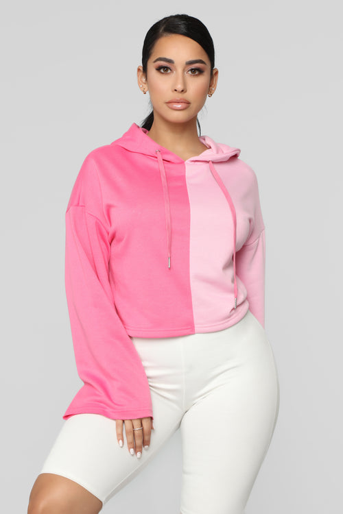 One Or The Other Hoodie - Pink