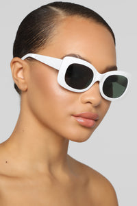 Try Later Sunglasses - White