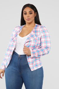 Power Over Me Jacket - Pink/Combo