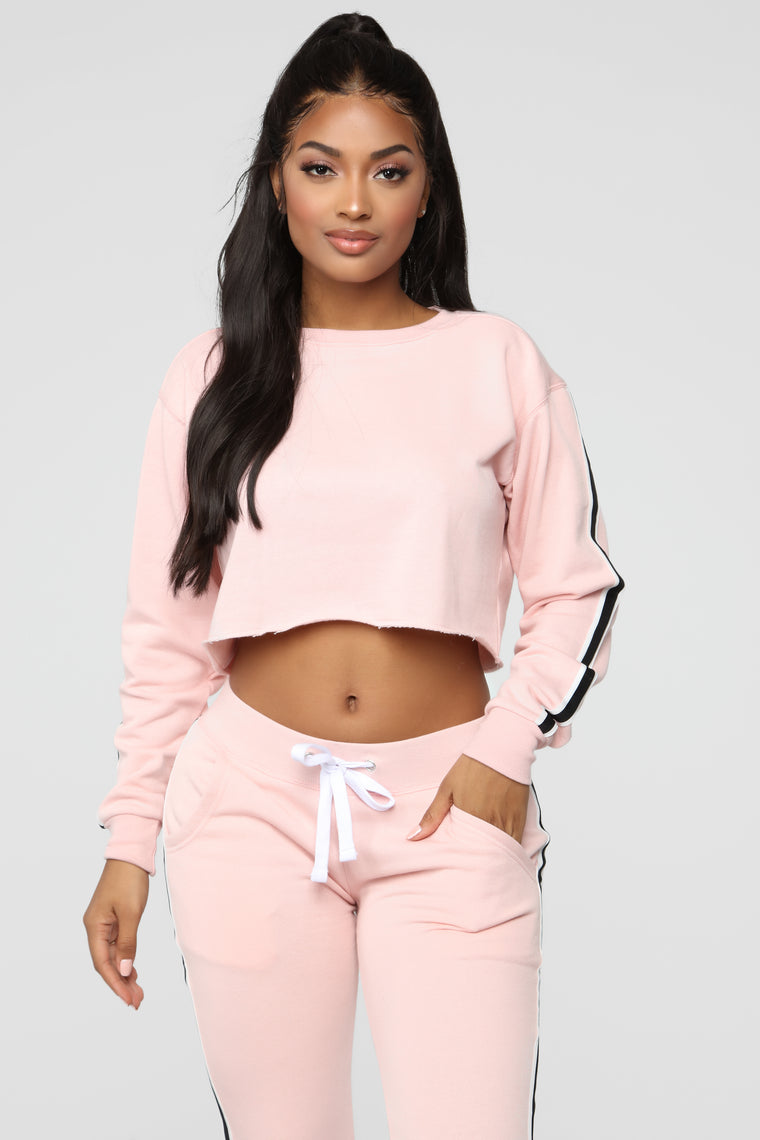 Chill With Me Sweatshirt - Blush