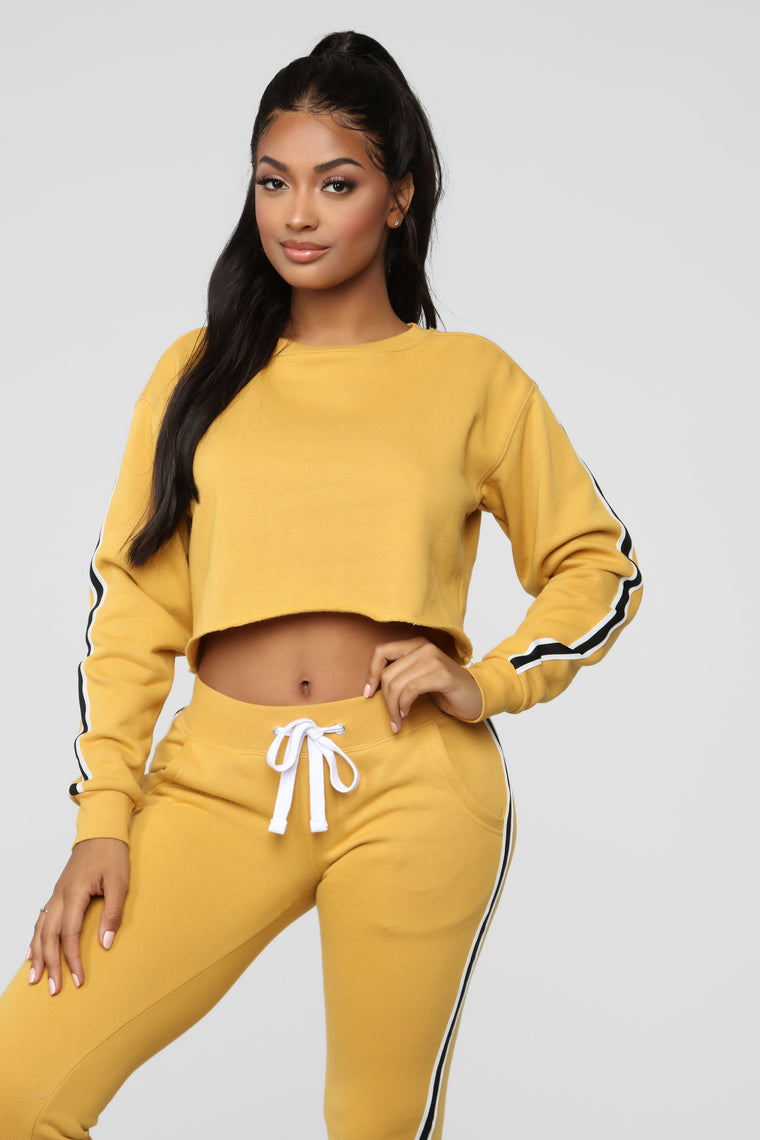 Chill With Me Sweatshirt - Mustard