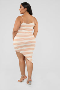 Every Angle Striped Midi Dress - Peach Angle 8