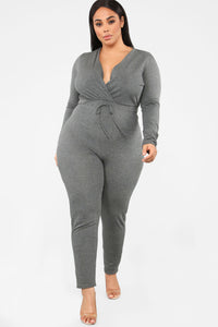 Anberlin French Terry Jumpsuit - Charcoal Angle 5