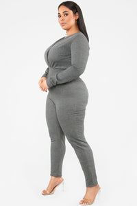 Anberlin French Terry Jumpsuit - Charcoal Angle 7