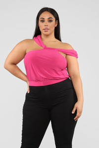 Stay the Night Top - Fuchsia Angle 7