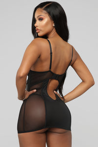 Never Enough Of You 2 Piece Bustier Set - Black