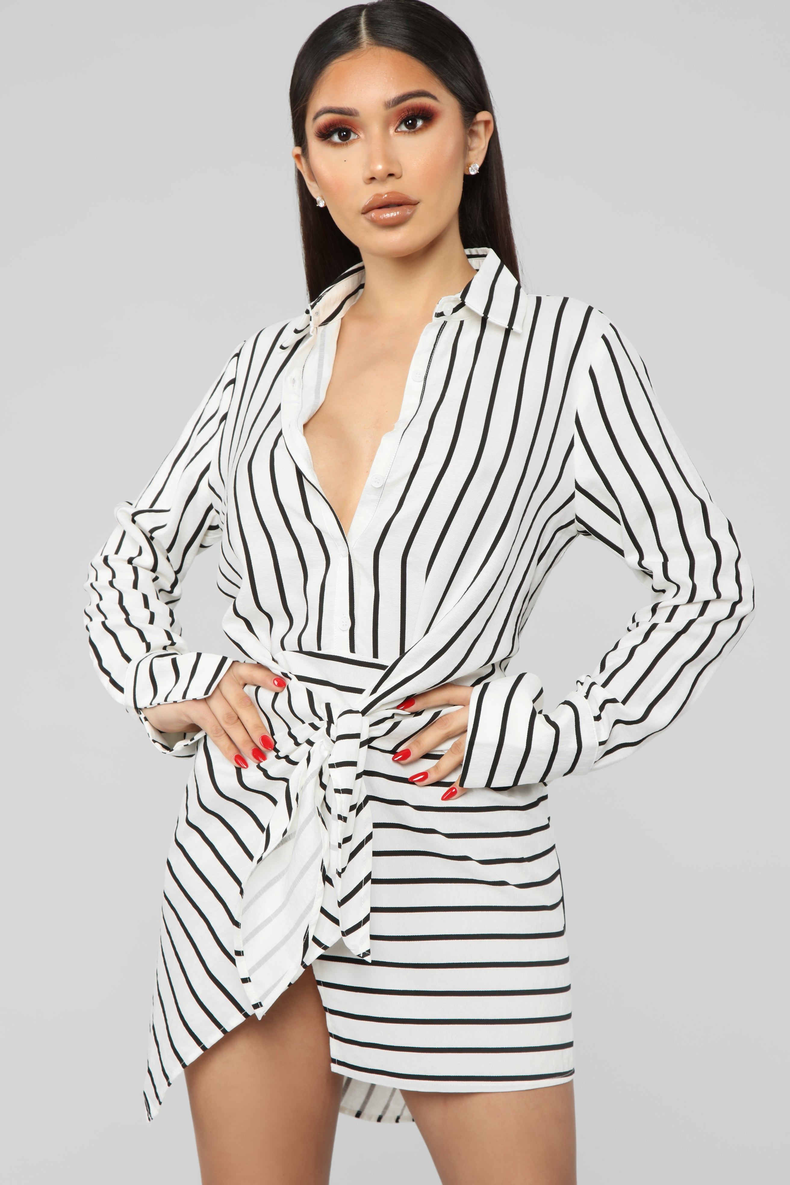 be624b737bce black and white striped shirt dress – Little Black Dress | Black ...