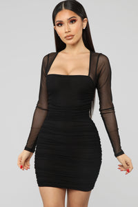 Oh So Fresh Mini Dress - Black
