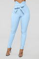 Knot Your Girl Pants - Blue