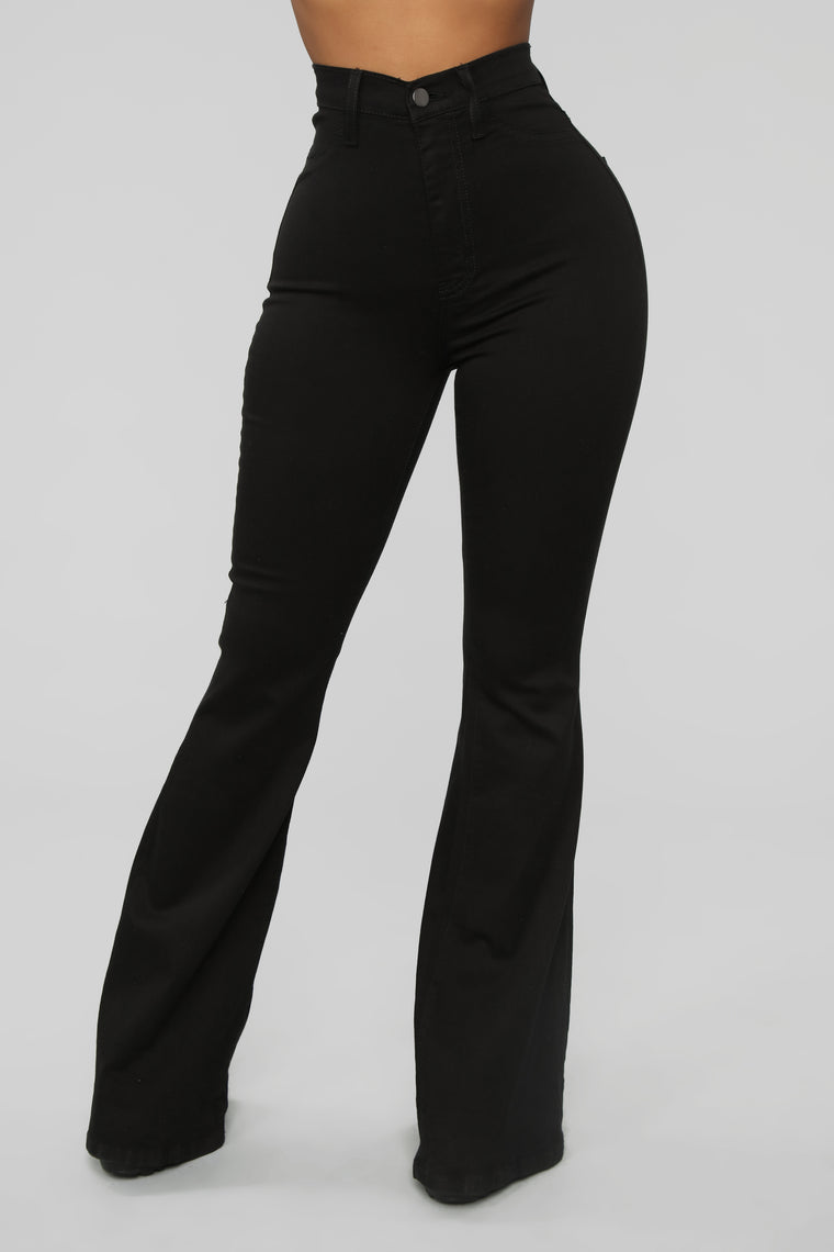 Bell Bottom Blues Jeans - Black