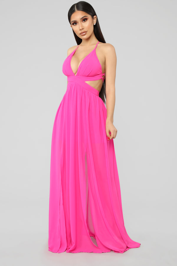 5ebbb46e16e Kawaii Maxi Dress - Fuchsia