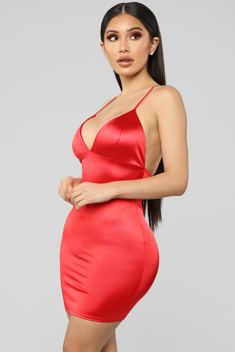 Come And See Me Babe Mini Dress - Red