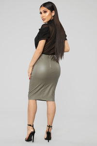 Won't Let You Down Skirt - Olive
