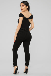 Stay The Night Top - Black