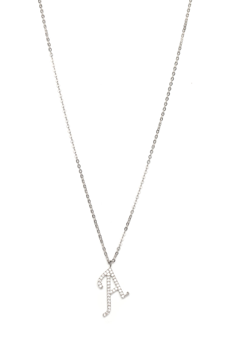"Initial Thoughts ""A"" Necklace - Silver"