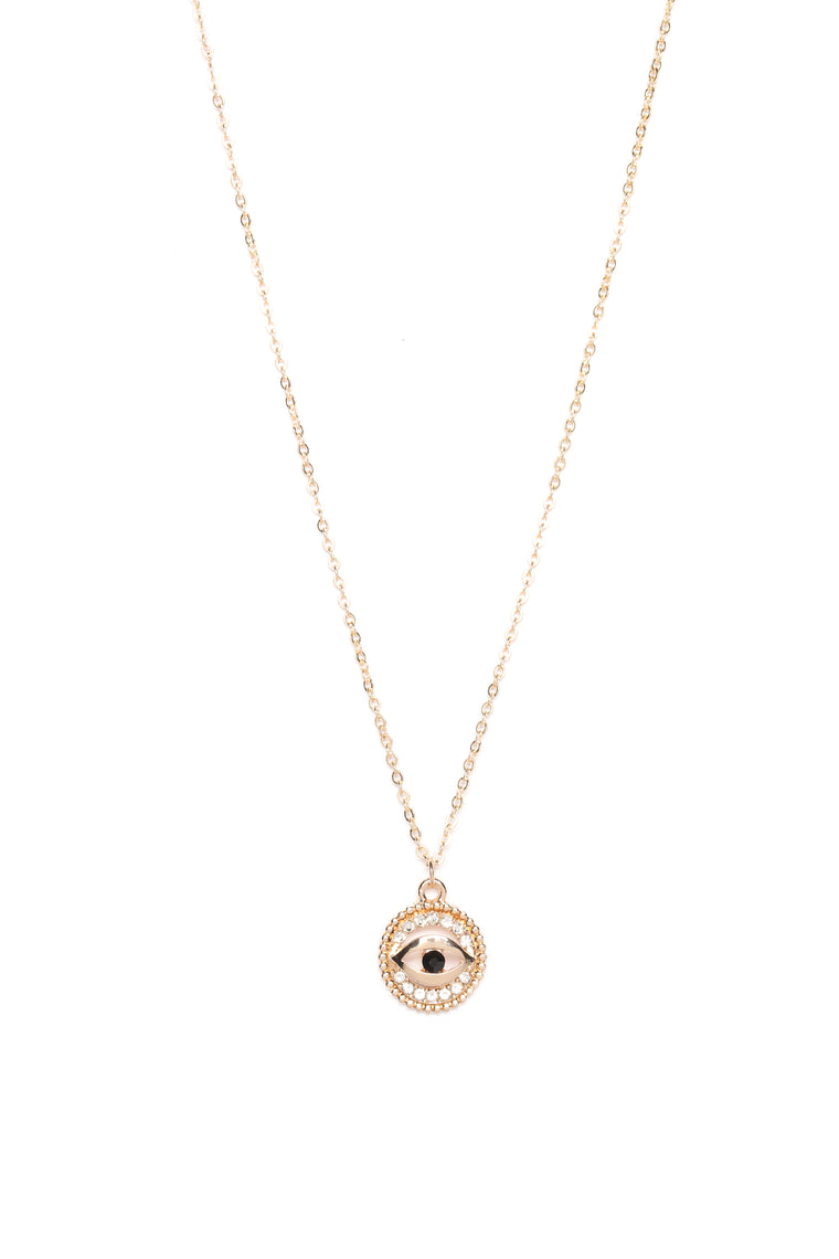 Eye Of The Beholder Necklace - Gold