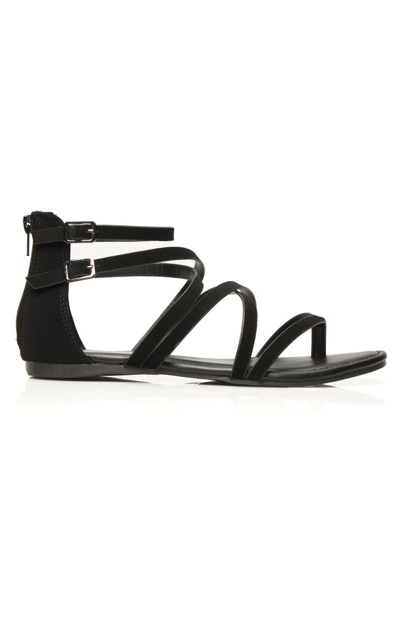 58f360e54513 But Seriously No Flat Sandals - Black