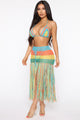 Bali Dreaming Crochet 2 Piece Cover Up Set - Multi Color