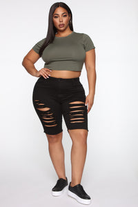 Robin Crop Top - Army Green Angle 7