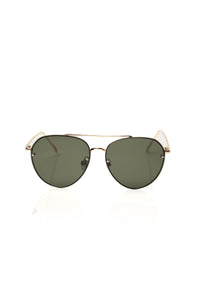 Rockin Out Sunglasses - Gold/green