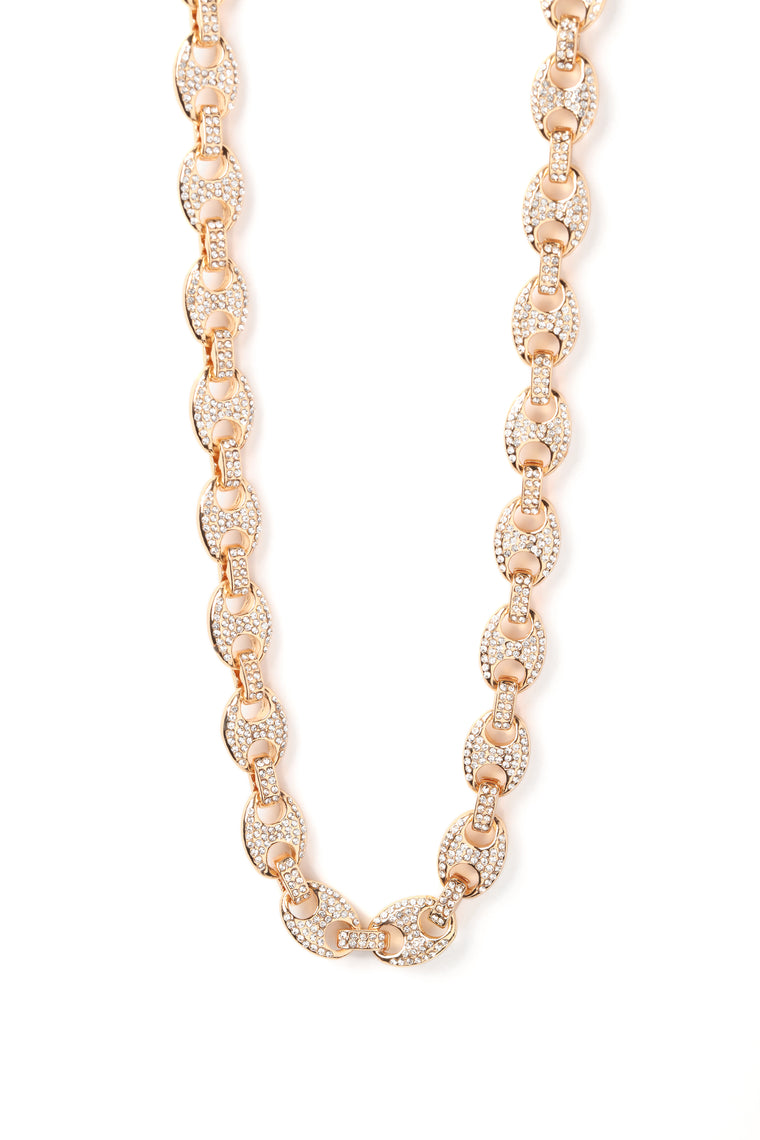 Keepin It Icy Necklace - Gold