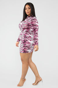 September Mini Dress - Fuchsia