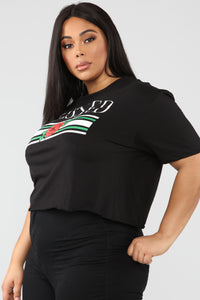 I'm Way Up Short Sleeve Top - Black Angle 9