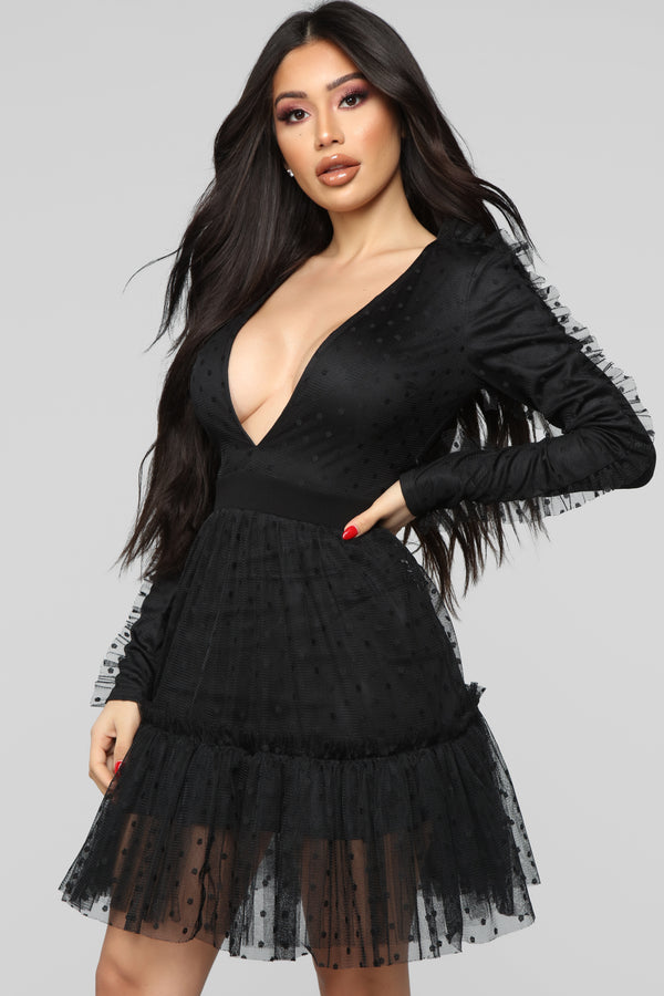 0c8263e366 Issa Look Mesh Mini Dress - Black