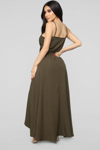 Always Wanting You Maxi Romper - Olive Angle 4