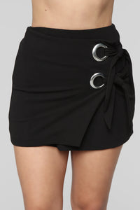Wrapped In My Arms Mini Skirt - Black