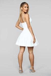 Take A Spin Fit And Flare Dress - Ivory Angle 4