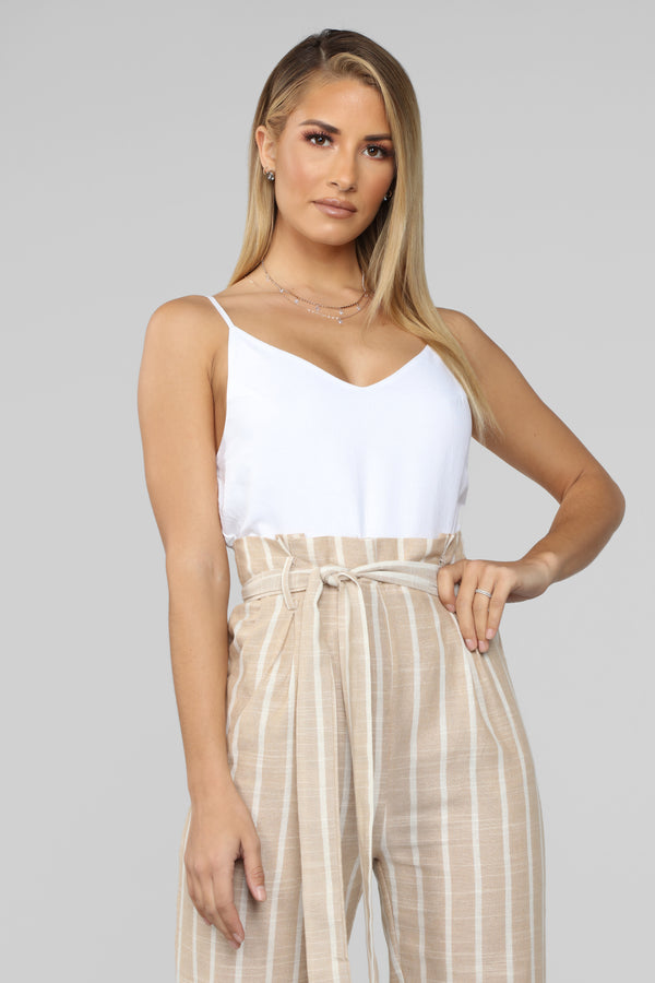 773ec88303 Switchin  It Up Jumpsuit - White Taupe