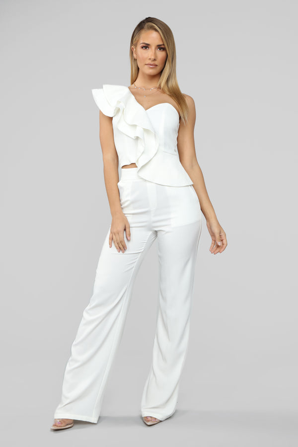 6b9600838f Got It All Together Pant Set - White