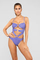 Oh Yes I Did Cutout Swimsuit - Blue