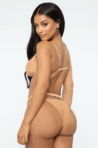 Secret Code Beach Bikini - Taupe Angle 3
