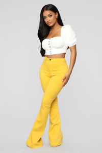 Bell Bottom Blues Jeans - Mustard
