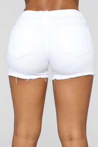 It's Getting Hot In Here Shorts - White