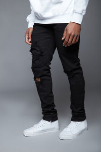 Point Of View Skinny Jeans - Black Angle 2