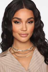 Courtside Layered Choker - Gold Angle 2