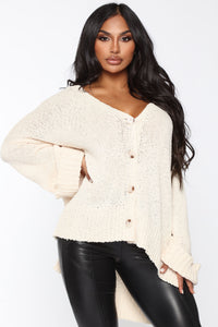 Don't Bother Me Cardigan - Cream Angle 1