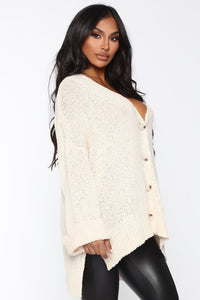Don't Bother Me Cardigan - Cream Angle 3
