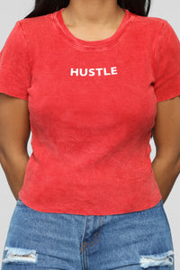 Hustle Is My Hobby Top - Red