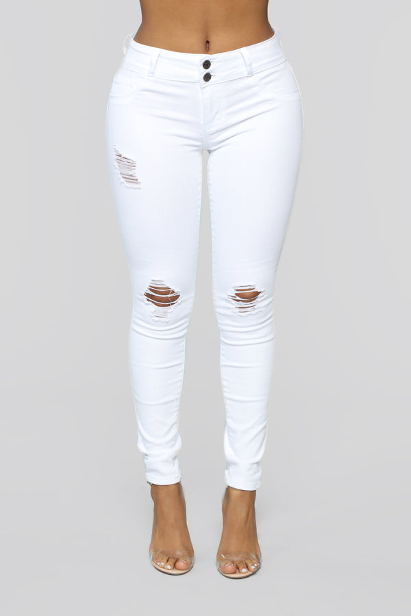 The Perfect Fit Skinny Jeans - White