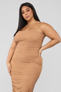 Feeling My Mesh Dress - Nude Angle 6