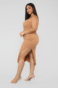 Feeling My Mesh Dress - Nude Angle 7