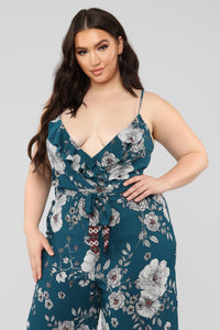 Secret Garden Jumpsuit - Teal/Combo